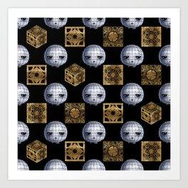 Chibi Pinhead & Puzzle Boxes Art Print