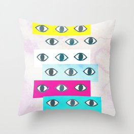 Eye Eye Throw Pillow