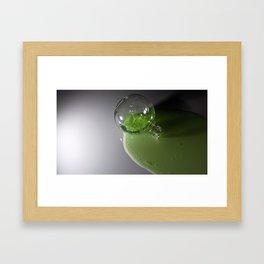 radioactive superhero juice... Framed Art Print