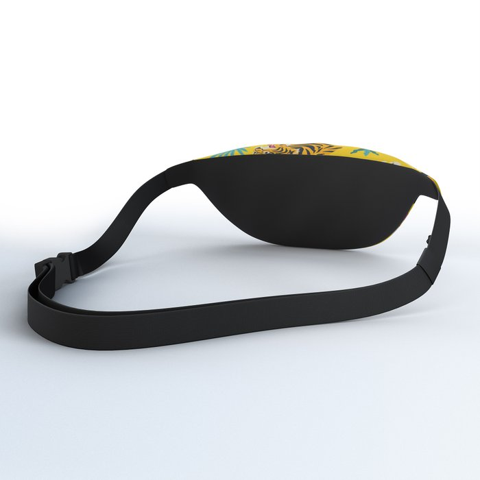 Yellow Tiger Tropical Pattern Fanny Pack