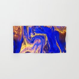 Marble gold and deep blue Hand & Bath Towel