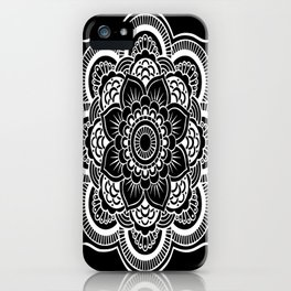 Mandala Black & White iPhone Case