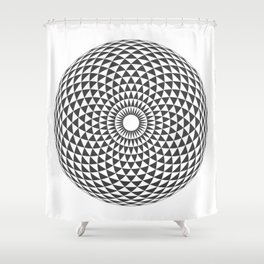 Geometric Eye Shower Curtain