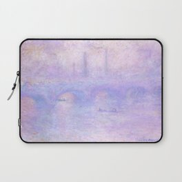 "Claude Monet ""Waterloo Bridge, Effect of Fog"" Laptop Sleeve"