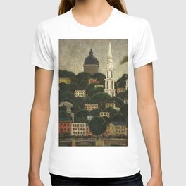 College Hill, Downcity Providence, Rhode Island by Edward Middleton Manigault T-shirt
