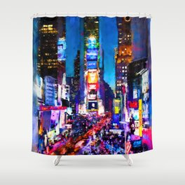 New York at Night Shower Curtain
