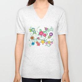 Floral Delight Unisex V-Neck