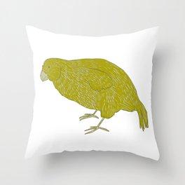 Kakapo Says Hello! Throw Pillow