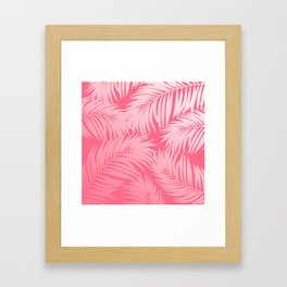 Palm Tree Fronds c'est parfait on pink Hawaii Tropical Décor Framed Art Print