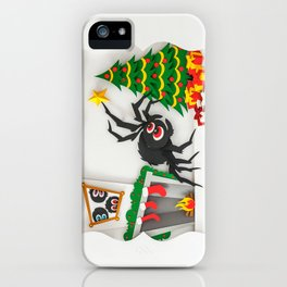 Boris The Christmas Tarantula 2 iPhone Case