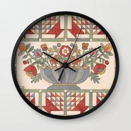 Applique Florals Wall Clock
