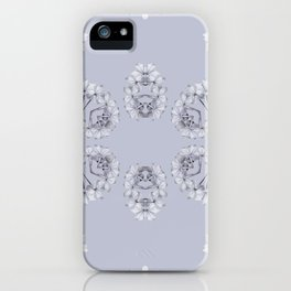 Silver Wildflowers iPhone Case