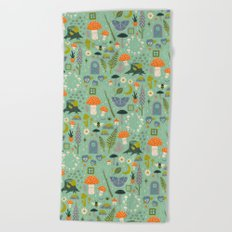 Fairy Garden Beach Towel