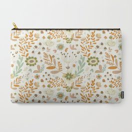 Little Creme Garden Flowers Carry-All Pouch