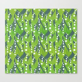 Lily of the Valley Pattern Canvas Print