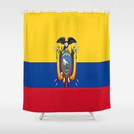 Flag of Ecuador -ecuadorian,Inca,Kichwa,Quito,america, South america,Spanish,Amazonia,latin america Shower Curtain