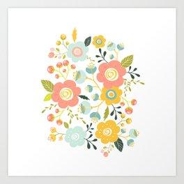 Airy GardenPillow Art Print