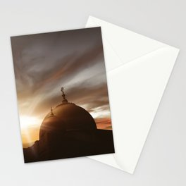 Majestic mosque lights Stationery Cards