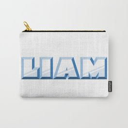 """""""LIAM"""" first name blue pattern Carry-All Pouch"""