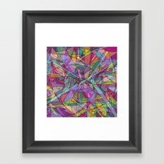 COLOR WINTER MOOD Framed Art Print