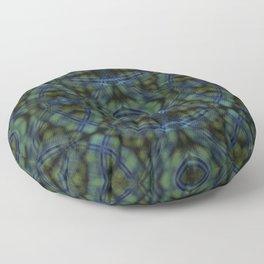 Frog's Eye - multidimensional plaid pattern print Floor Pillow