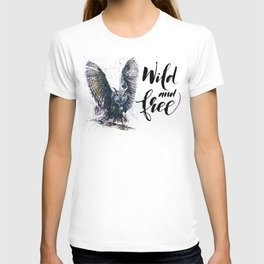 Owl wild & free T-shirt