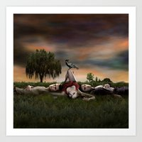 vampire diaries Art Prints featuring Vampire Diaries by Brigitta