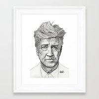 lynch Framed Art Prints featuring David Lynch by Paul Nelson-Esch Art