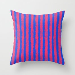 pink no blue bounding stripes 2 Throw Pillow