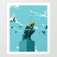depression Art Prints featuring Depression by mark smith