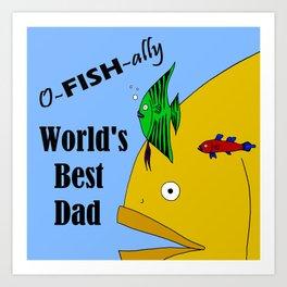 World's Best Dad Art Print