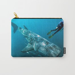 Impressive Giant Whale Shark And Diver HD Carry-All Pouch