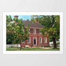 Colonial Williamsburg Virginia Red Brick Building Art Print