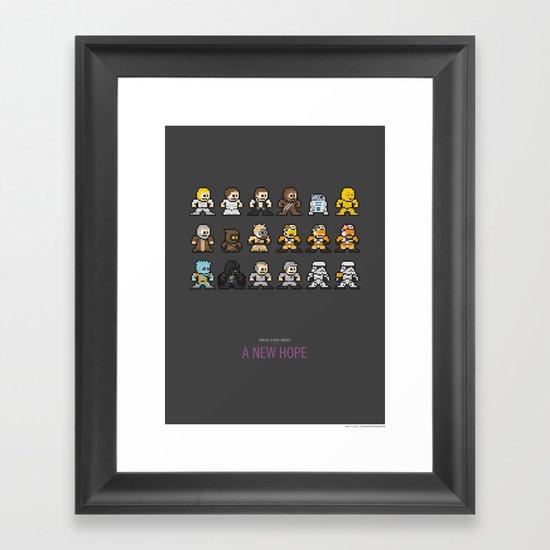 Mega Star Wars: Episode IV - A New Hope Framed Art Print