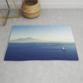 Naples sea at morning Rug