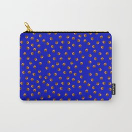 Acorn Pattern-Deep Blue Carry-All Pouch