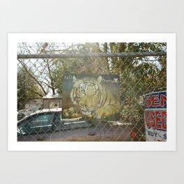 no tresspass tiger Art Print