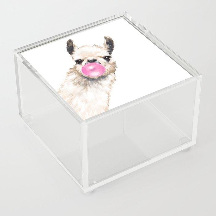 Bubble Gum Sneaky Llama Acrylic Box