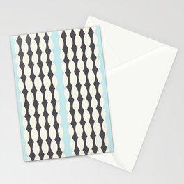 Nostalgic Brighton Stripes in Charcoal/Sky Stationery Cards