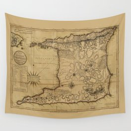Map of the Isle of Trinidad (1797) Wall Tapestry