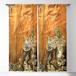 Gothic  - Steampunk sculptures On leather Blackout Curtain