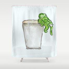 Mint Julep watercolor, Kentucky Derby, Handpainted, Cocktail Shower Curtain