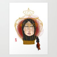 cage Art Prints featuring Cage by Luna Kirsche