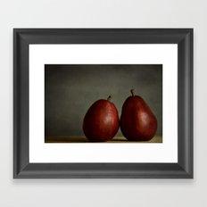 Red Pears Framed Art Print
