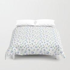 blue lily subtle pattern Duvet Cover