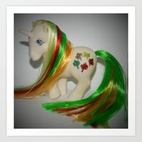My Little pony Customised Gusty, rehaired, gorgeous vintage g1 Art Print