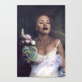 The unravelling of Ophelia Canvas Print
