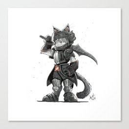 Black Knight Nubelung Cat Canvas Print