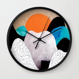 Paper mountains Wall Clock