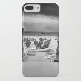 Omaha Beach Landing -- D-Day Normandy Invasion iPhone Case